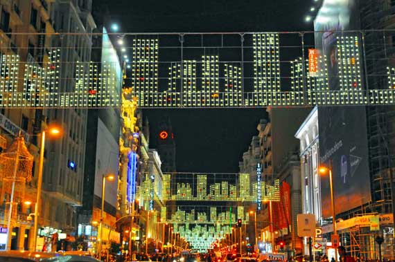 luces madrid